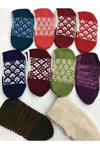 Aksuhome Kadın Yün Patik Çorap 10'lu