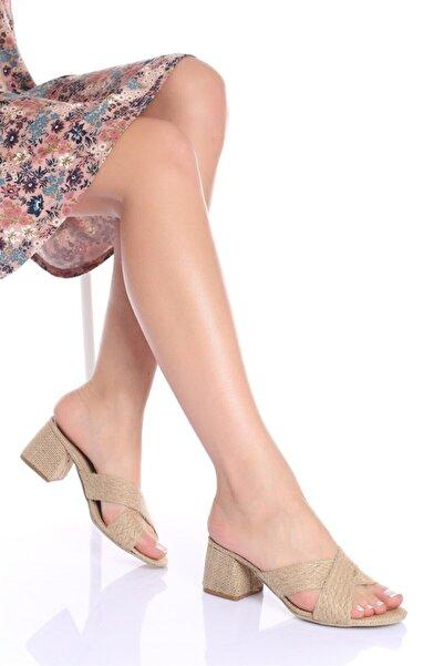 Modagon Sofia Hasır Topuklu Ayakkabı
