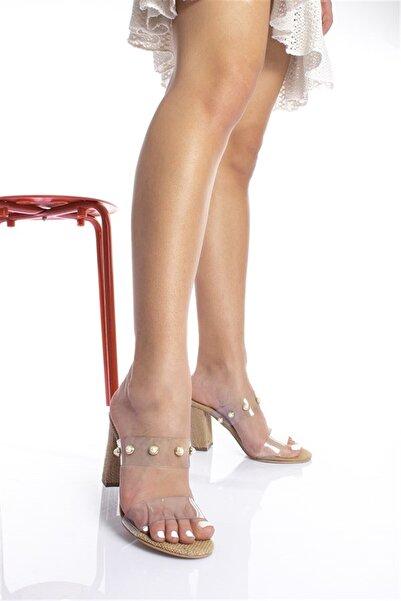 Modagon Pevidal Topuklu Şeffaf Ayakkabı