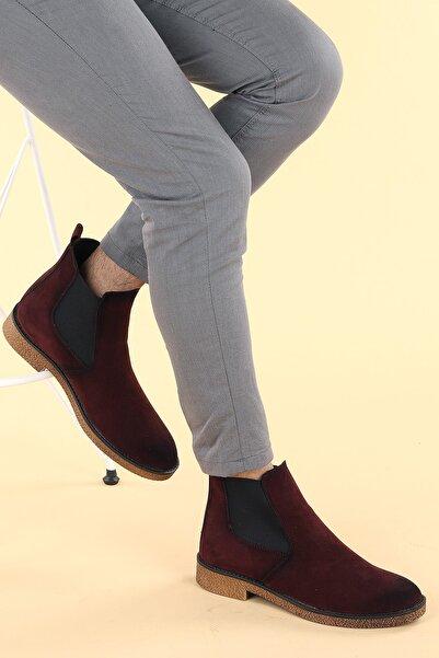 Ayakland Erkek  Bordo Süet Termo Taban Bot Ayakkabı