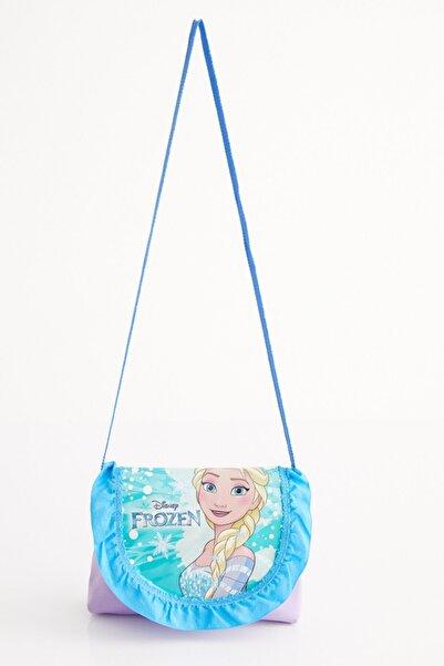 Disney Frozen Kız Çocuk Elsa Lisanslı Kapaklı Omuz Çantası
