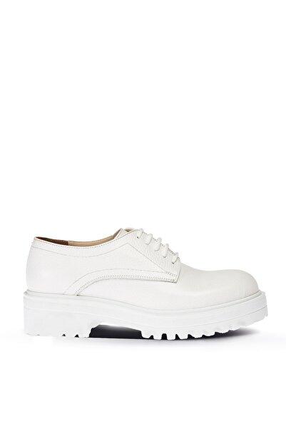 Deery Kadın Beyaz Hakiki Deri  Oxford Ayakkabı