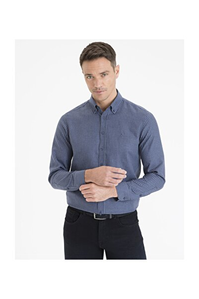 Pierre Cardin Erkek Lacivert Slim Fit Gömlek G021GL004.000.1214509