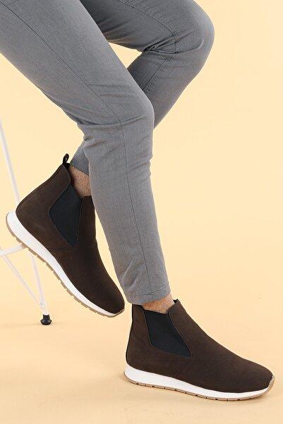 Ayakland Erkek Kahverengi Spor Bot Ayakkabı