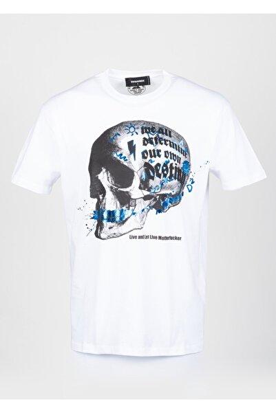 DSquared2 Erkek Beyaz T-Shirt