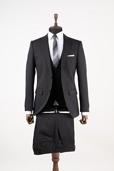 Sarar Ccs Jaymes Siyah Armürlü Takım Elbise