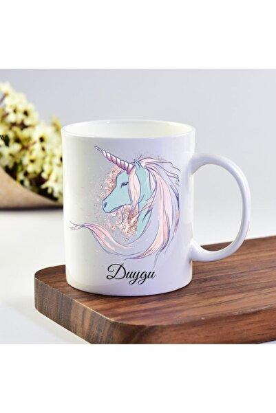eKUPAM Duygu Isimli Unicorn Tasarımlı Kupa Bardak - 0306