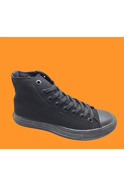 Convers Unisex Siyah Keten Boğazlı Spor Ayakkabısı