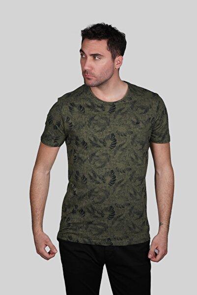 İgs Erkek Haki Slim Fit T-shirt
