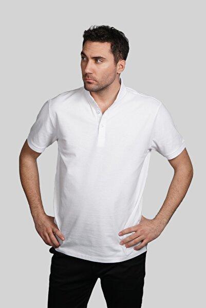 İgs Erkek Beyaz Slim Fit Polo Yaka T-shirt