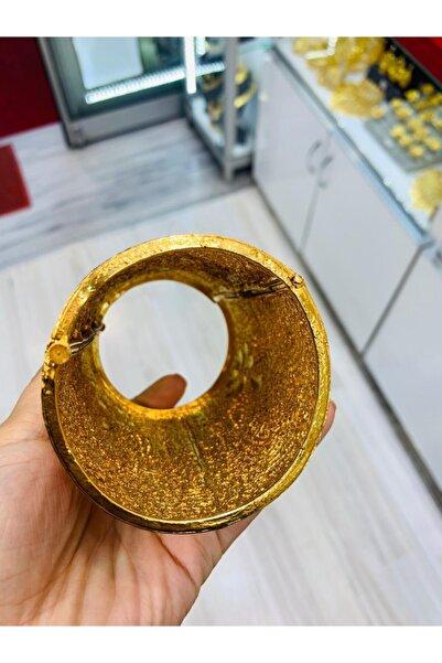 rich lion Kadın Altın Kaplama Hint Kelepçe Bilezik
