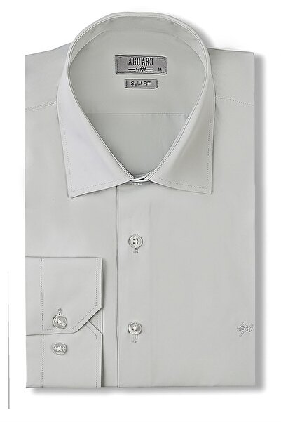 İgs Erkek Su Yeşili Slim Fit Klasik Gömlek
