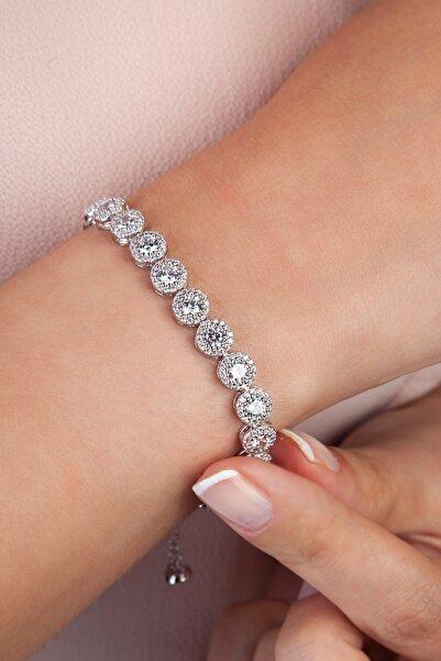 Else Silver Kadın Beyaz Asansörlü Gümüş Bileklik