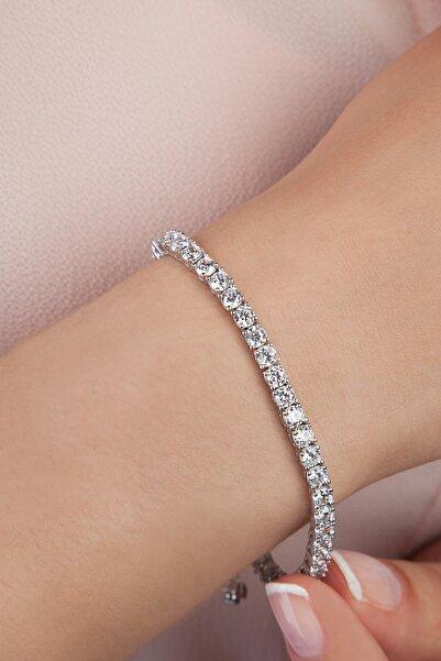 Else Silver Kadın Beyaz Su Yolu Gümüş Bileklik