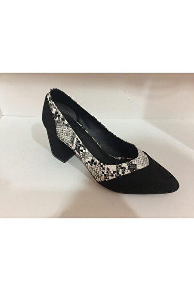 Umut Shoes Kadın Siyah Topuklu Ayakkabı