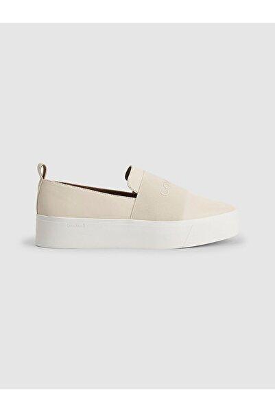 Calvin Klein Kadın Kirli Beyaz Jacinta Lastik Ayakkabı