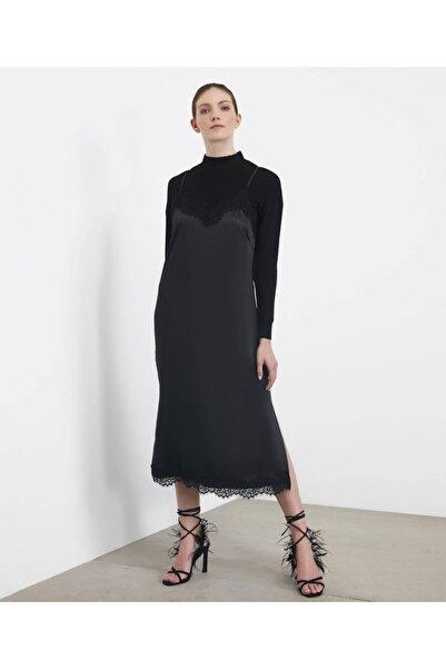 İpekyol Kadın Siyah Çift Parça Elbise IS1200002228001