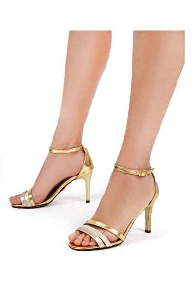 Gökhan Talay Kadın Altın Klasik Topuklu Ayakkabı