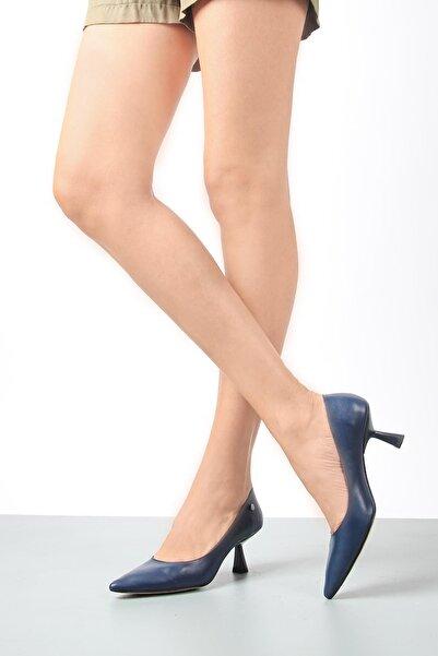 Gökhan Talay Kadın Lacivert Topuklu Ayakkabı