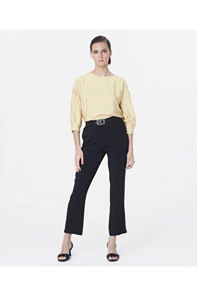 İpekyol Kadın Siyah Paça Yırtmaçlı Pantolon