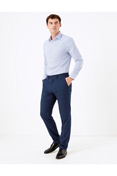 Marks & Spencer Erkek Mor Streç Slim Fit Pantolon