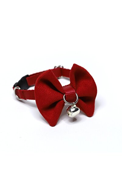 DECORTEX Kırmızı Kedi Ve Minik Irk Köpek Papyon Tasma Çıngıraklı