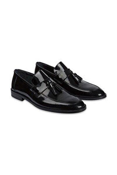 Erkek Siyah Klasik Loafer Ayakkabı
