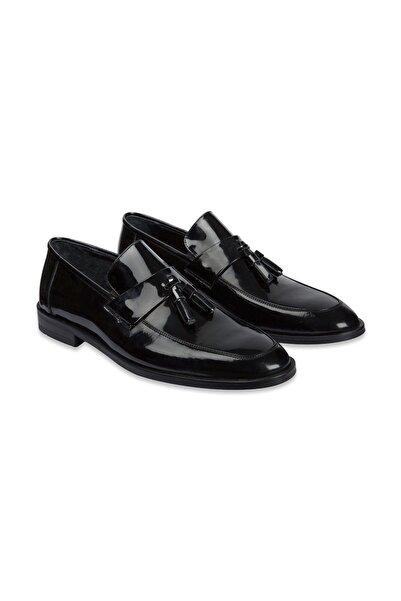 SÜVARİ Erkek Siyah Klasik Loafer Ayakkabı