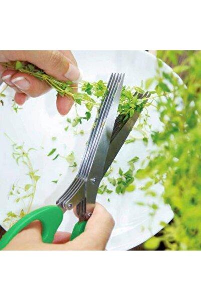 Biotech Sebze Doğrama Makası Yeşil Soğan Maydanoz Doğrama Makası 5 Katlı
