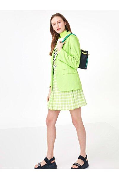 Twist Kadın Neon Yeşil Klasik Kesim Ceket TS1200005125260