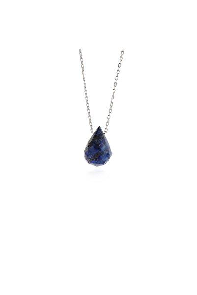 Liya Takı Lapis Lazuli Doğal Taşlı Minimal Kolye M2