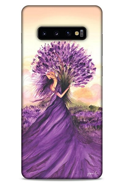Lopard Y.liva-2021 Özel Seri Lavanta Samsung Galaxy S10 Plus Kılıf Silikon Kapak