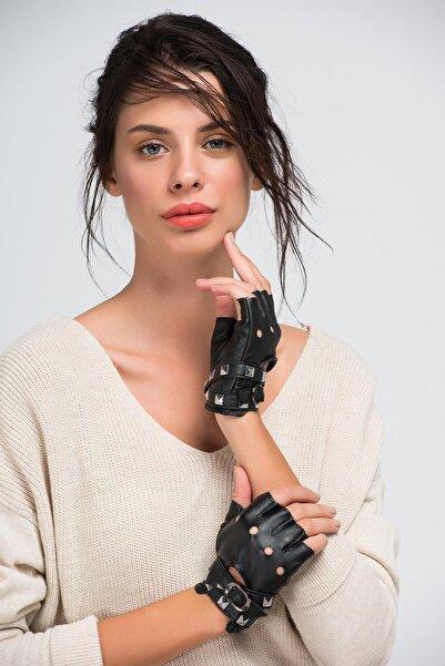 Y-London Kadın Siyah Eldiven