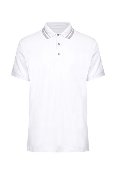 W Collection Erkek Beyaz Polo Yaka T-Shırt