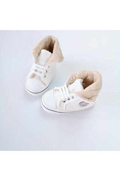 Funny Baby Bebek Ekru Elegance Ekru Kürklü Converse