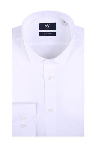 W Collection Erkek Beyaz Easy Iron Klasik Gömlek