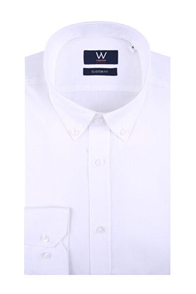 W Collection Erkek Beyaz Easy Iron Gömlek
