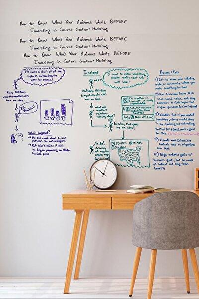Tutunabilir Kağıt 2 Tane Şeffaf Akıllı Kağıt Tahta 100x150 Cm Yazı Tahtası + Kalem Duvara,cama,tahtaya Uygulanır