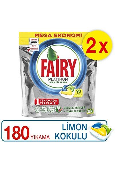 Fairy Platinum 180 Yıkama Bulaşık Makinesi Deterjanı Kapsülü Limon Kokulu