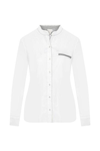 W Collection Kadın Beyaz Pamuk Poplin Gömlek