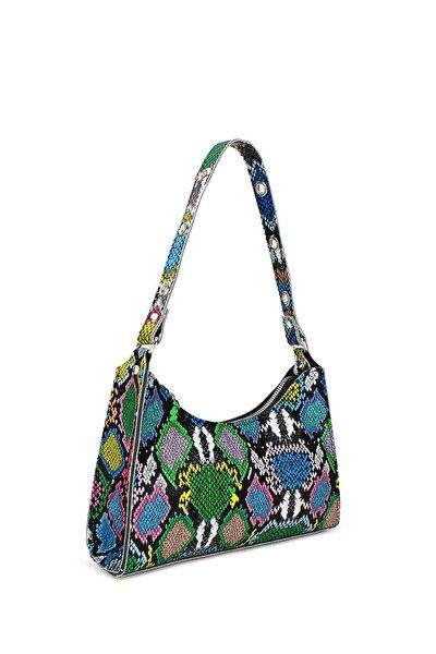Housebags Kadın Karışık Renkli Baguette Çanta 195