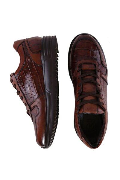W Collection Erkek Kahverengi Baskılı Sneaker