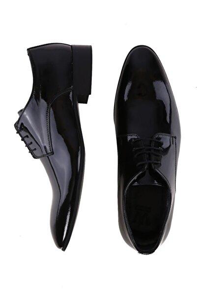 W Collection Erkek Siyah Rugan Ayakkabı