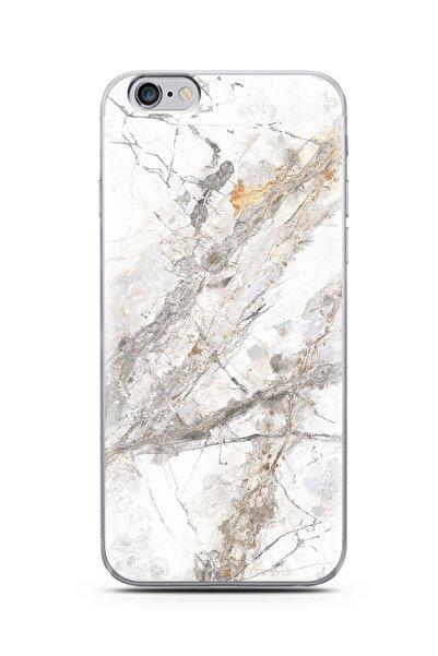Spoyi Beyaz Mermer Tasarımlı Süper Şeffaf Silikon Iphone 6s Plus Telefon Kılıfı