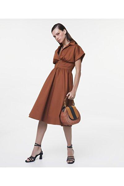 İpekyol Kadın Tarçın Bel Vurgulu Elbise