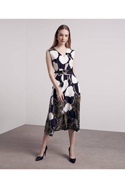 İpekyol Kadın Siyah Kumaş Mixli Elbise