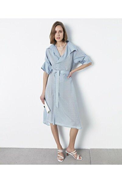 İpekyol Kadın Açık Mavi Anvelop Form Kuşaklı Elbise