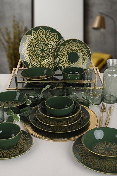 Keramika Jacobs Yeşil Yemek Takımı 24 Parça 6 Kişilik