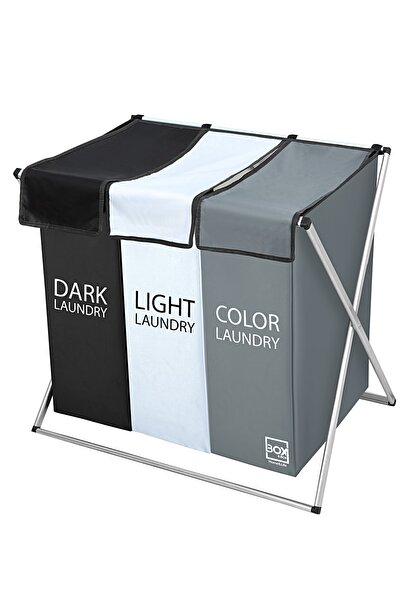 Box&Box Katlanabilir Üçlü Çamaşır Sepeti