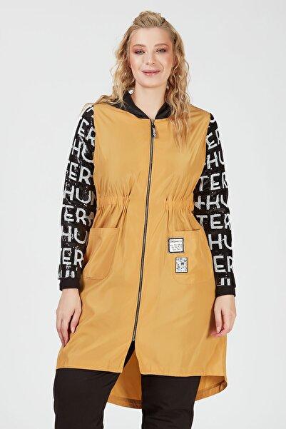 Büyük Moda Payet Detaylı Yağmurluk